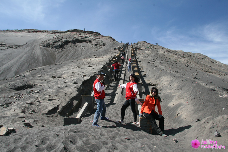 Stairs to the caldera of Bromo