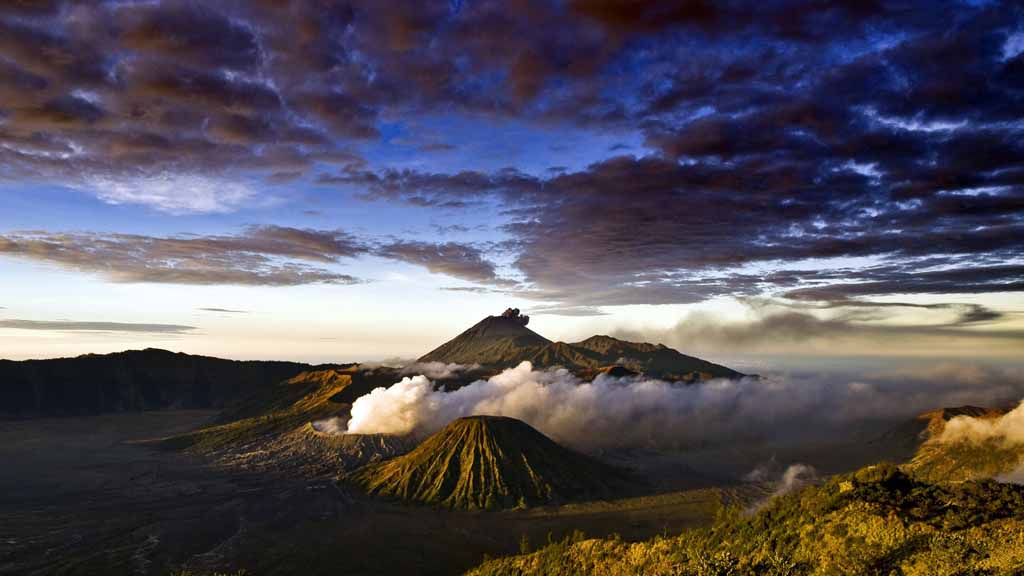 The landscape view of Mt. Bromo - East Java