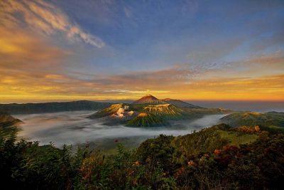 Amazing landscape view of Mt. Bromo