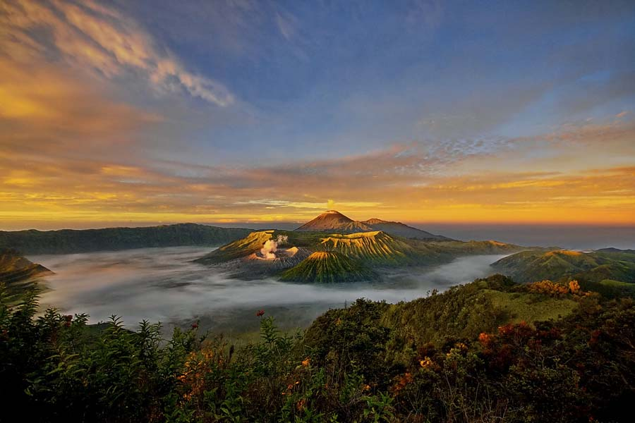 Amazing landscape view of Mt. Bromo