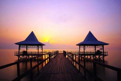 Sunset pantai Bentar - Probolinggo
