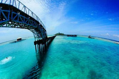 The view of Bridge of Love - Tidung island