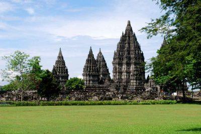 The view of Prambanan temple