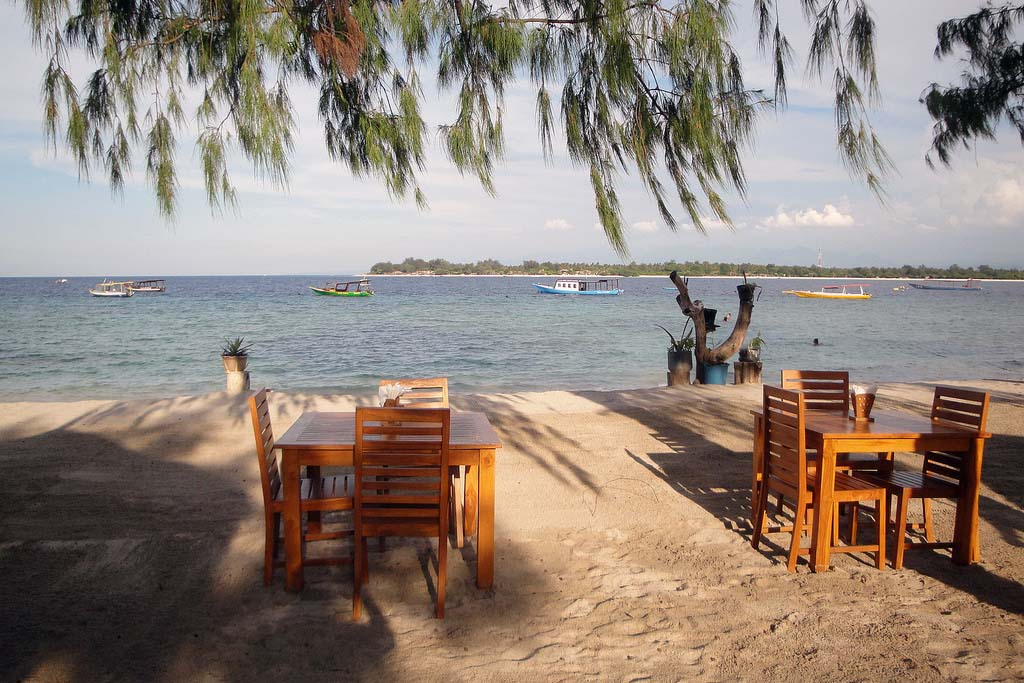 Cafe's view in Gili Trawangan