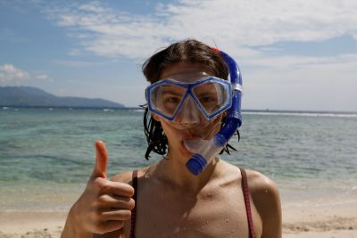 Enjoyed snorkelling in Gili islands