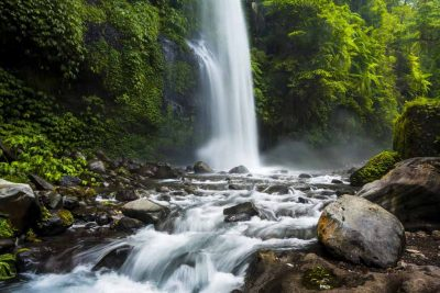 The beauty of Sendang Gile waterfall