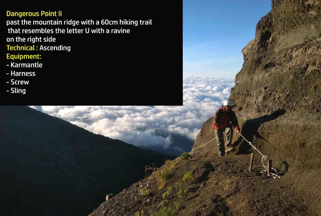 Dangerous point 2 - Mt. Raung hiking trail