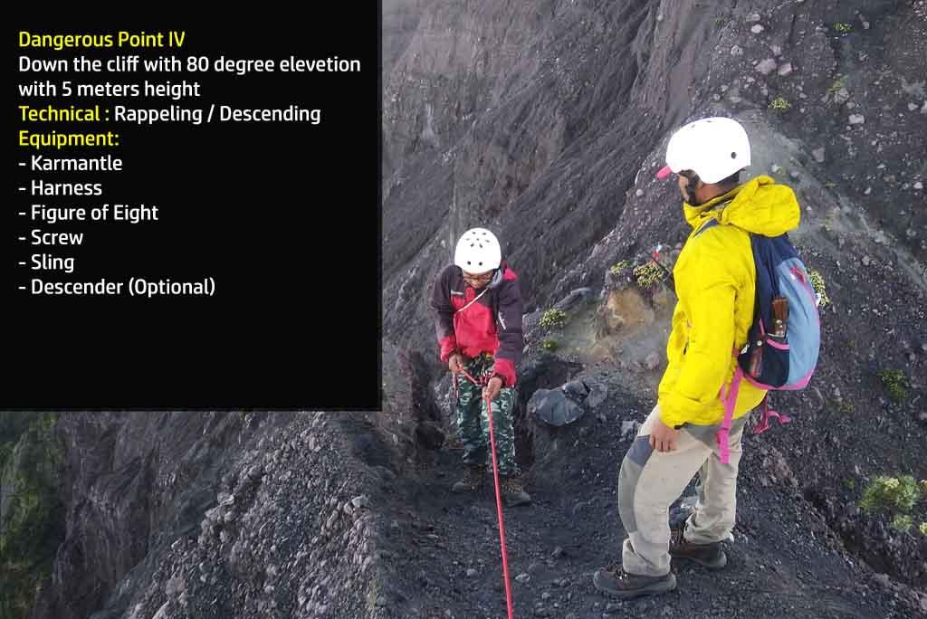 Dangerous point 4 - Mt. Raung hiking trail