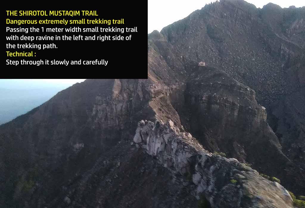 Dangerous trekking path - Mt. Raung hiking via Kalibaru