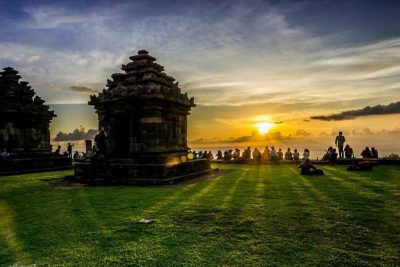 Sunset moment at Ijo Temple - Yogyakarta