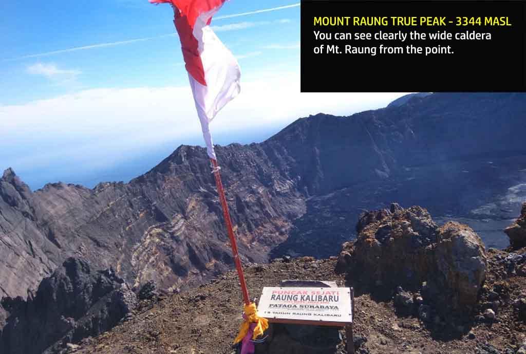 The true peak of Mt. Raung - 3344 masl