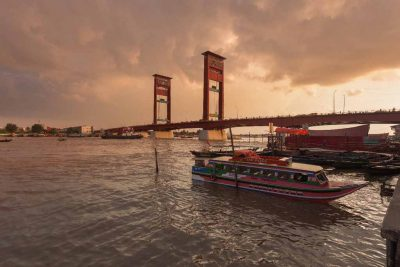 Ampera bridge of Musi river - Palembang