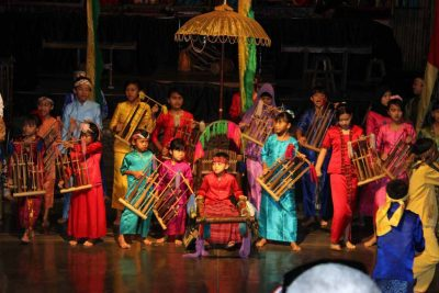 Angklung traditional music performance