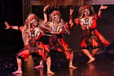 The dancers of Ramayana ballet show