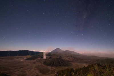 A clear sky of Bromo volcano