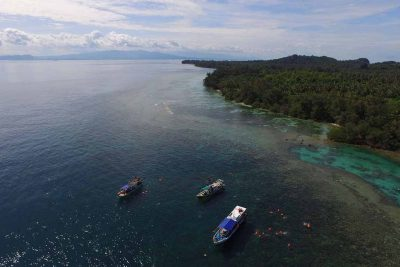 Snorkeling around Sangiang island